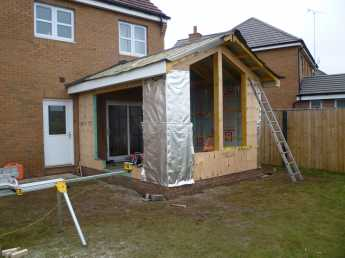 End of week 1( Errect timber Kit & Roof Structure)